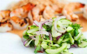 salad hanh tay rau lam salad ngon