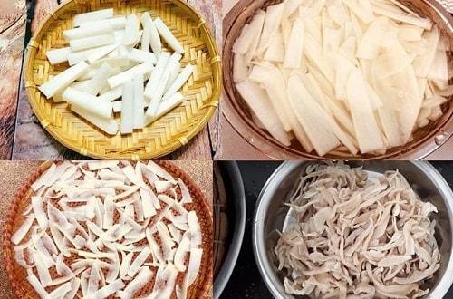 cách làm củ cải khô