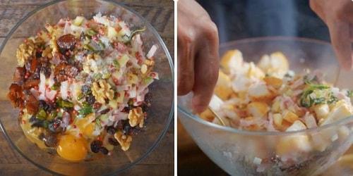 cách làm gà nướng stuffing