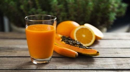 nước ép trái cây- sinh tố đu đủ