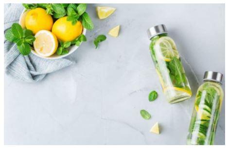 nước detox chanh mật ong