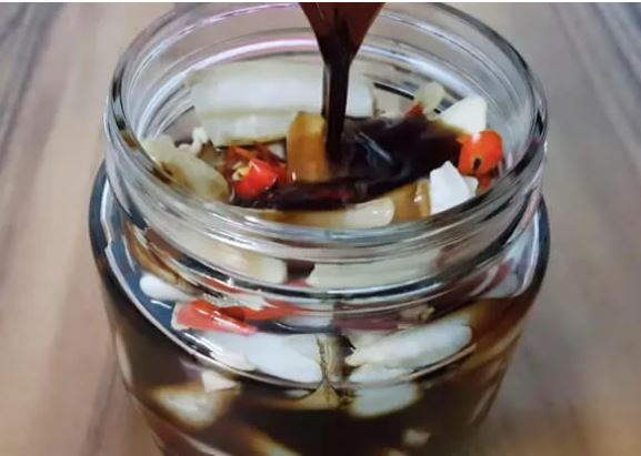 củ cải ngâm nước tương